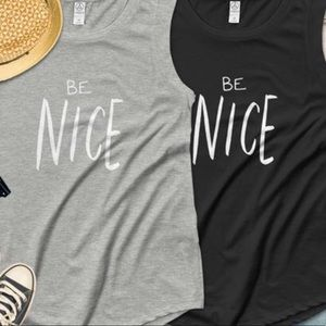 Be Nice cap sleeve graphic t-shirt